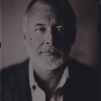 John Farmelo, tintype portrait made with wetplate collodion process.