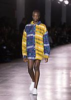 Bethany Williams, Catwalk show at London Fashion Week Men's, Truman Brewery Brick Lane London. 04.01.20