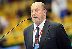 Antonio Espinos, president of WKF at Opening ceremony at Day One of Karate 1 World Cup - Thermana Slovenia Lasko 2014 tournament, on March 15, 2014 in Arena Tri Lilije, Lasko, Slovenia.Photo by Vid Ponikvar / Sportida