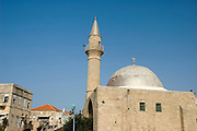 A mosque and turret in old Akko. Akko also Acre, is a city in northern Israel with a history spanning centuries. It also played a major role in the holy land crusades
