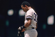 CHICAGO - 1986:  Willie Randolph of the New York Yankees looks on during an MLB game versus the Chicago White Sox during the 1986 season at Comiskey Park in Chicago, Illinois. (Photo by Ron Vesely) Subject:   Willie Randolph