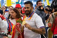 Spanish's paralympic Kim Lopez Gonzalez arrive to Madrid Adolfo Suarez airport after the Paralympics of Rio 2016 . September 21, 2016. (ALTERPHOTOS/Rodrigo Jimenez)