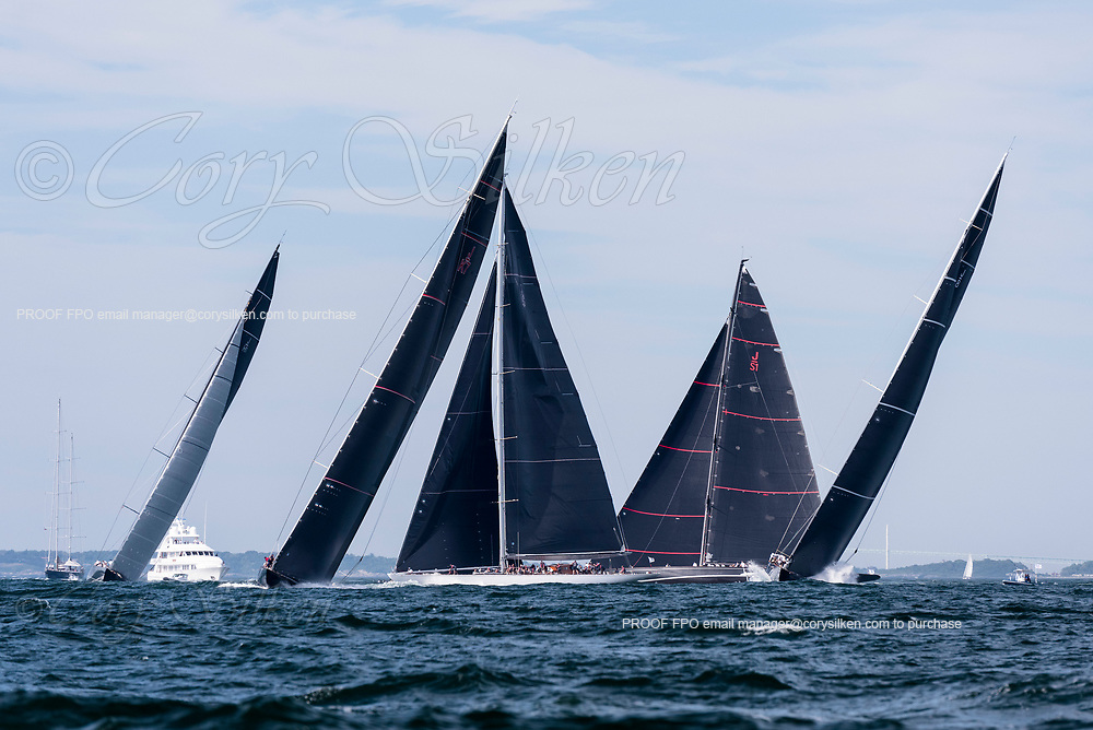Velsheda and Topaz sailing in the J Class World Championship.