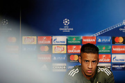 Bayern Munich's French midfielder Corentin Tolisso attends the Bayern Munich press conference and training before the UEFA Champions League football match between Paris Saint-Germain and Bayern Munich on September 26, 2017 at Parc des Princes stadium in Paris, France - Photo Benjamin Cremel / ProSportsImages / DPPI
