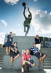 Jaka Lopatic, Tilen Jamnik, Grega Terzic, Martin Pavcnik and Ziga Bojc during Day Off in Group C of FIBA Europe Eurobasket 2015, on September 7, 2015, in Zagreb, Croatia. Photo by Vid Ponikvar / Sportida