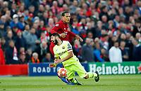 Football - 2018 / 2019 UEFA Champions League - Semi-Final, Second Leg: Liverpool (0) vs. Barcelona (3)<br /> <br /> Virgil van Dijk of Liverpool and Luis Suarez of Barcelona  at Anfield.<br /> <br /> COLORSPORT/LYNNE CAMERON