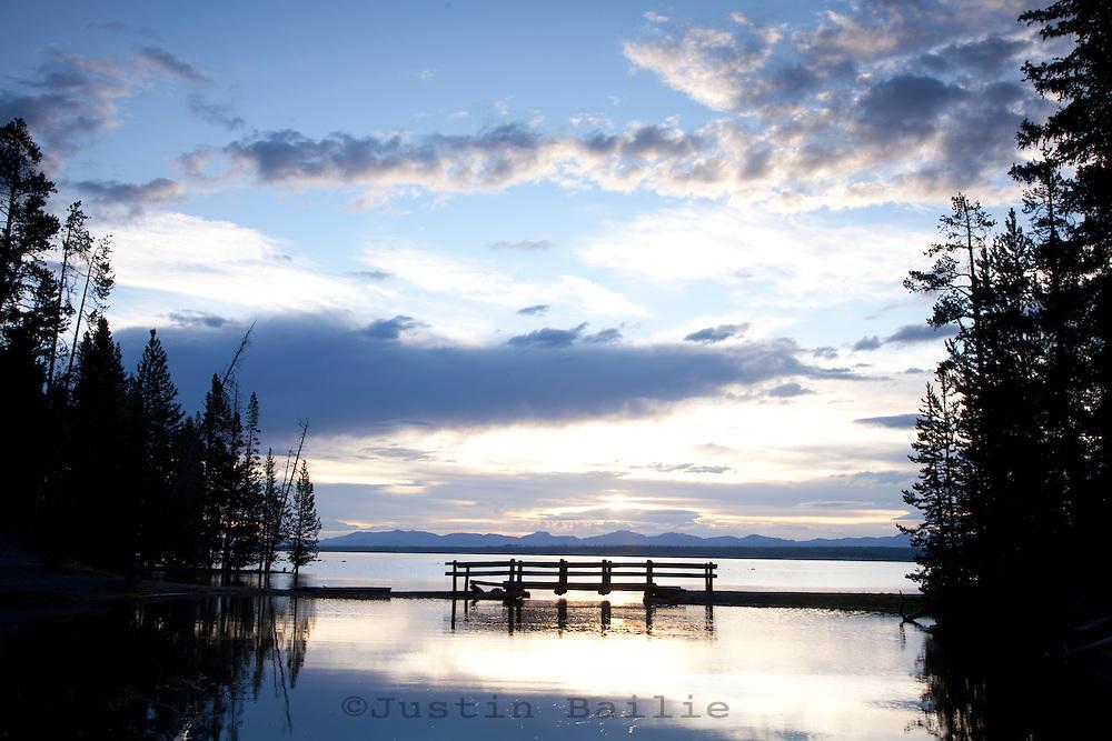 Yellowstone Lake in Yellowstone National Park, WY.