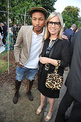 Pharrell Williams and RONNIE NEWHOUSE at the annual Serpentine Gallery Summer Party sponsored by Canvas TV  the new global arts TV network, held at the Serpentine Gallery, Kensington Gardens, London on 9th July 2009.