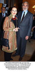 MR & MRS CHRISTOPHER LEE, he is the actor at an exhibition in London on 11th May 2004.PTY 28