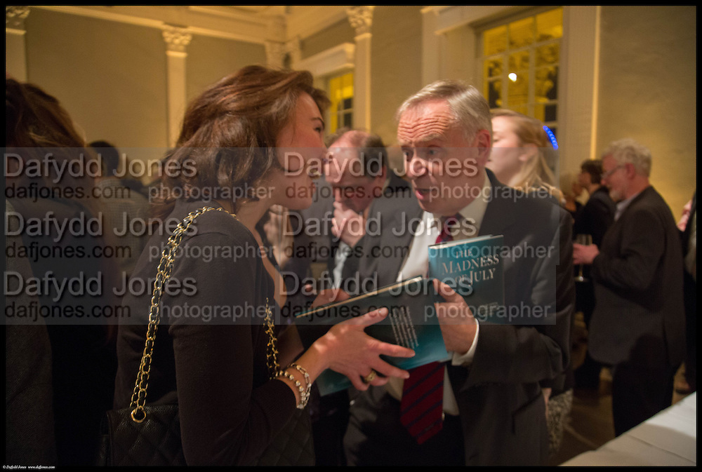 SARA GELFAND;LORD ARCHER; JEFFREY ARCHER, James Naughtie: The Madness of July published by Head of Zeus - book launch party, ICA, London. 25 February 2014.