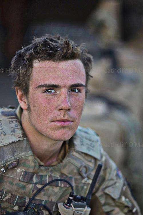 Mcc0027461 . Daily Telegraph..Pte Stuart Chamberlayne..Portraits of men from 5 Platoon, B Coy, 3 Para in PB Washiran..Helmand 27 November 2010