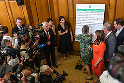 © Licensed to London News Pictures. 27/08/2019. London, UK. Party leaders and MPs sign the 'Church House Declaration' to assert their commitment to avoiding a no deal exit from the EU. Photo credit: Rob Pinney/LNP