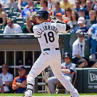 Chicago, IL - June 05, 2011:  Chicago White Sox player, Brent Lillibridge (18) bats against the Detroit Tigers at U.S. Cellular Field on June 5, 2011 in Chicago, IL.