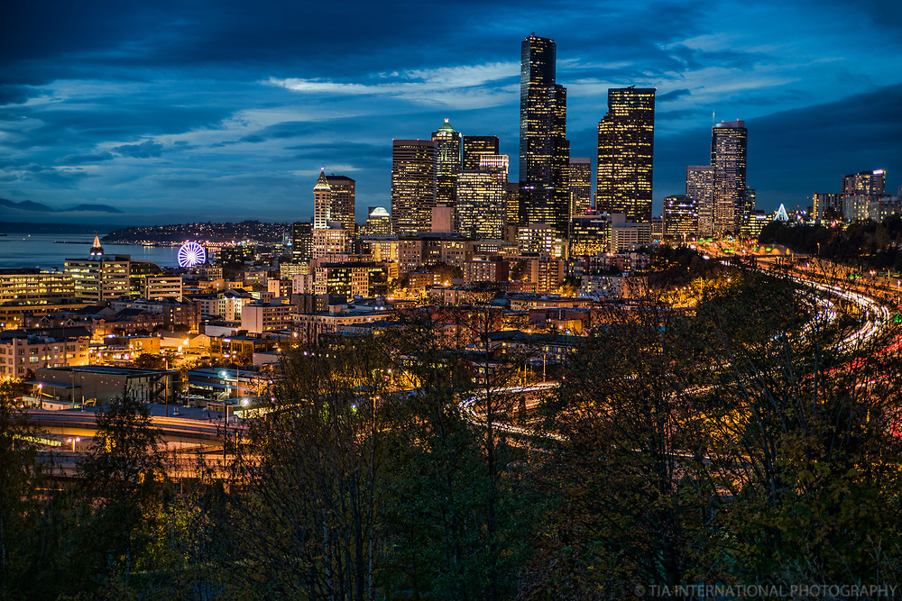 Evening Skyline from Beacon Hill