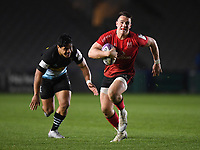 Rugby Union - 2020 / 2021 European Rugby Challenge Cup - Round of 16 - Harlequins vs Ulster - The Stoop<br /> <br /> Ulster Rugby's James Hume evades the tackle of Harlequins' Ben Tapuai to set up Alby Mathewson for their 7th try.<br /> <br /> COLORSPORT/ASHLEY WESTERN