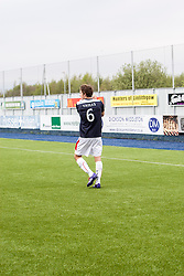 Falkirk's Will Vaulks applauds the empty ground at the end.<br /> Falkirk 3 v 1 Alloa Athletic, Scottish Championship game played today at The Falkirk Stadium.<br /> © Michael Schofield.