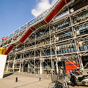 Centre Pompidou<br /> Paris, with it's modern design architecture and exoskeleton