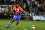 Kelechi Iheanacho of Manchester city in action.EFL Cup. 3rd round match, Swansea city v Manchester city at the Liberty Stadium in Swansea, South Wales on Wednesday 21st September 2016.<br /> pic by  Andrew Orchard, Andrew Orchard sports photography.