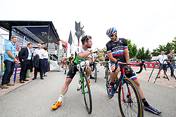 Mark Cavendish of Dimension Data and Luka Mezgec of Mitchelton Scott prior to 1st Stage of 25th Tour de Slovenie 2018 cycling race between Lendava and Murska Sobota (159 km), on June 13, 2018 in  Slovenia. Photo by Matic Klansek Velej / Sportida