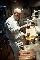 Philadelphia restauranteur and chef Marc Vetri owns the restaurants Vetri and Osteria. He was photographed at Vetri in Center City Philadelphia.