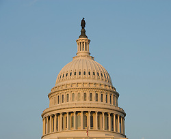 Washington DC; USA: The dome of the Capitol Building, legislative branch of the US government, in golden afternoon light.Photo copyright Lee Foster Photo # 3-washdc83085