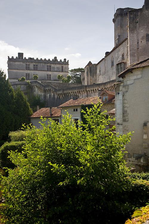 Bourdeilles popular as a tourist destination near Brantome in Northern Dordogne, France