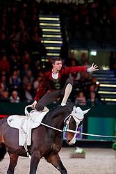 EDER Donimik (AUT), Pipetto<br /> Leipzig - Partner Pferd 2018   <br /> FEI World Cup Vaulting Herren 1. Umlauf <br /> © www.sportfotos-lafrentz.de/Stefan Lafrentz