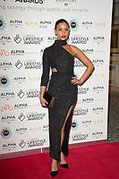 Lara Fraser  on the red carpet for the Lifestyle Awards 2021, at the Landmark Hotel Marylebone, London.