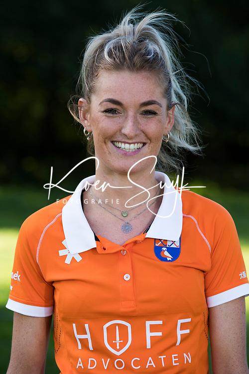 Bloemendaal - Merel Aarts  (Bl'daal) .  Dames I , seizoen hoofdklasse hockey, 2017-2018.  COPYRIGHT KOEN SUYK