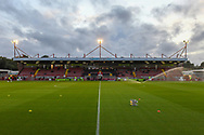The people's pension stadium before the game during the EFL Cup match between Crawley Town and Stoke City at The People's Pension Stadium, Crawley, England on 24 September 2019.