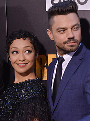 "(L-R) Ruth Negga and Dominic Cooper together at AMC's ""Preacher"" Season 2 Premiere Screening held at the Theater at the Ace Hotel in Los Angeles, CA on Tuesday, June 20, 2017.  (Photo By Sthanlee B. Mirador) *** Please Use Credit from Credit Field ***"