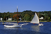 Image of sailboats at Mystic Seaport, Connecticut, American Northeast by Randy Wells