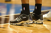 December 6, 2003, Orlando, Florida, USA;  Tim Duncan of the San Antonio Spurs wearing his T21D Shoes against the Orlando Magic.
