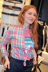 JOSEPHINE DE LA BAUME at a party to celebratethe opening of the Lacoste Flagship Store at 44 Brompton Road, Knightsbridge, London on 20th June 2012.