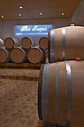 Oak barrel aging and fermentation cellar. Domaine Henri Bourgeois, Chavignol, Sancerre, Loire, France
