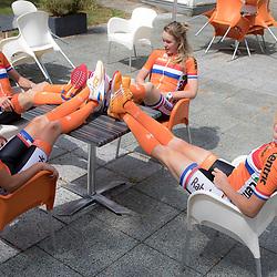 12-09-2016: Wielrennen: wielervrouwen: Nieuwegein<br /> NIEUWEGEIN (NED) wielrennen   <br /> Annemiek van Vleuten, Marianne Vos, Ellen van Dijk en Anna van der Breggen
