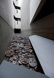 Interior of Memory Void room of Jewish Museum or Judisches Museum designed by Daniel Libeskind in Kreuzberg Germany