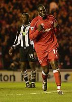 Fotball - Premier League - 05.03.2003<br /> Middlesbrough v Newcastle 1-0<br /> Michael Ricketts - Middlesbrough<br /> Foto: Digitalsport