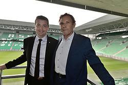 June 15, 2018 - Saint-Etienne - Stade Geoffroy G, France - Roland Romeyer (president du directoire) - Gael Perdriau  (Credit Image: © Panoramic via ZUMA Press)