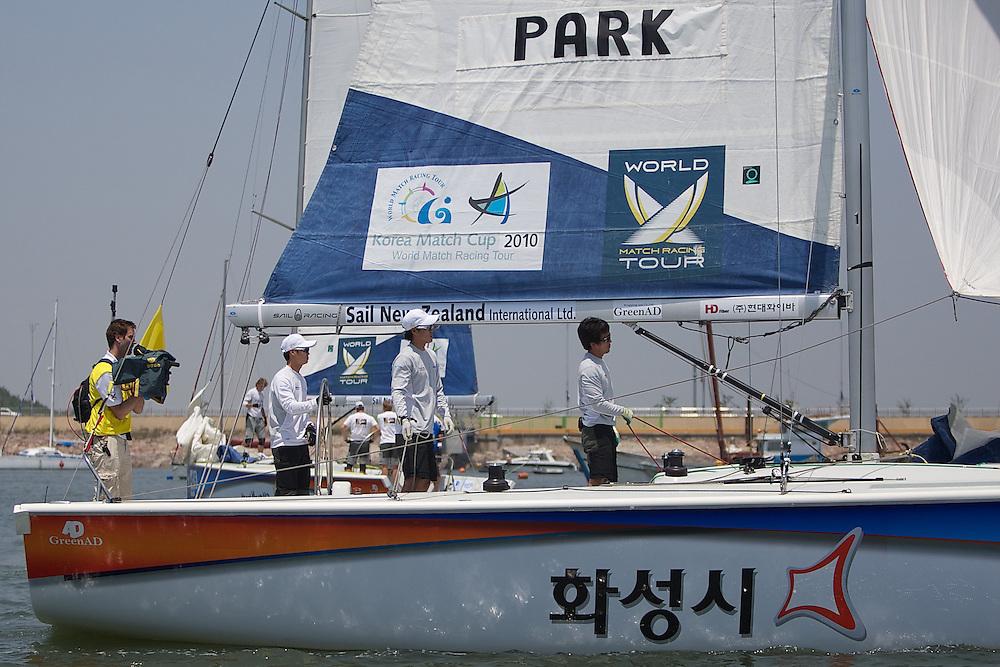 World Match Racing Tour 2010. Korea Match Cup, Gyeonggi, Korea. 9th June 2010. Park GunWoo.