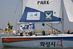 World Match Racing Tour 2010. Korea Match Cup, Gyeonggi, Korea. 9th June 2010. Park GunWoo.