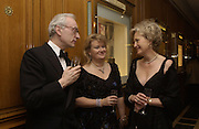 Lord Chadlington, the Marchioness of Reading and Lady Chadlington. Crillon Debutantes Ball 2002. Paris. 7 December 2002. © Copyright Photograph by Dafydd Jones 66 Stockwell Park Rd. London SW9 0DA Tel 020 7733 0108 www.dafjones.com