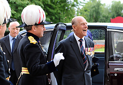 The Duke of Edinburgh leaves after attending a Drumhead Service of Remembrance led by the Bishop of London at Royal Hospital Chelsea, London.