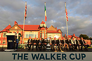 Nathalian Crosby (Captain USA) at the Award ceremony of the Walker Cup at Royal Liverpool Golf CLub, Hoylake, Cheshire, England. 08/09/2019.<br /> Picture Thos Caffrey / Golffile.ie<br /> <br /> All photo usage must carry mandatory copyright credit (© Golffile   Thos Caffrey)