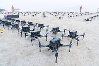Preparations for the Drone LightShow - https://Duncan.co/Burning-Man-2021