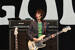© licensed to London News Pictures . 30/06/2012 . Manchester , UK . Beady Eye guitarist Gem Archer , performing on stage at Heaton Park with Beady Eye as warm up for the Stone Roses , who are on their comeback tour . Photo credit : Joel Goodman/LNP
