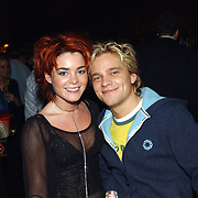 Uitreiking populariteitsprijs 2002, Kim Lian van der Meij en Sander Foppelle