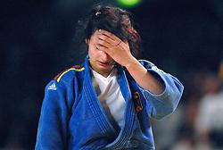 26-05-2006 JUDO: EUROPEES KAMPIOENSCHAP: TAMPERE FINLAND<br /> Mareen Kreah (GER) pakt de bronzen medaille<br /> ©2006-WWW.FOTOHOOGENDOORN.NL