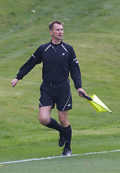 Jeremy Hunt MP, the Secretary of State for Health, runs the touch line at the match. The Press v Conservatives football match, played on the second day of the Conservative Conference, Manchester, United Kingdom, Monday, 30  September 2013. Picture by i-Images
