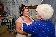 FEASTERVILLE, PA -  SEPTEMBER 27:  Maureen & John - September 27, 2013 -  Feasterville, Pennsylvania. (Photo by William Thomas Cain/Cain Images' Love Wedding Photos)